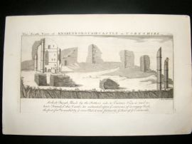 Buck C1820 Folio Architecture Print. Knaresborough Castle, Yorkshire